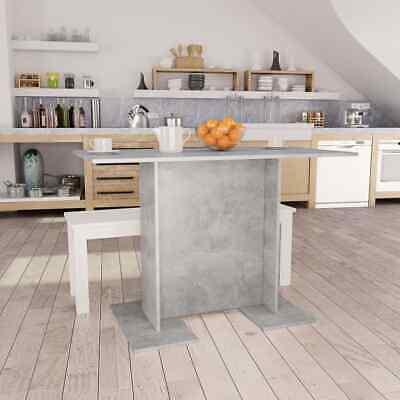 vidaXL Dining Table Concrete Grey 110cm Chipboard Kitchen