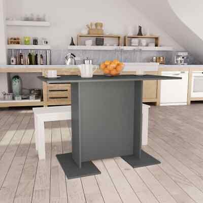 vidaXL Dining Table Grey 110cm Chipboard Kitchen Dinner