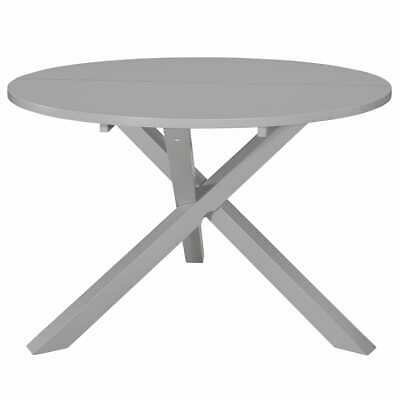 vidaXL Dining Table Grey 120cm MDF Round Home Kitchen Dinner