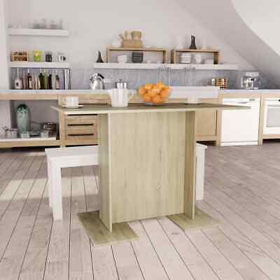 vidaXL Dining Table Sonoma Oak 110cm Chipboard Kitchen