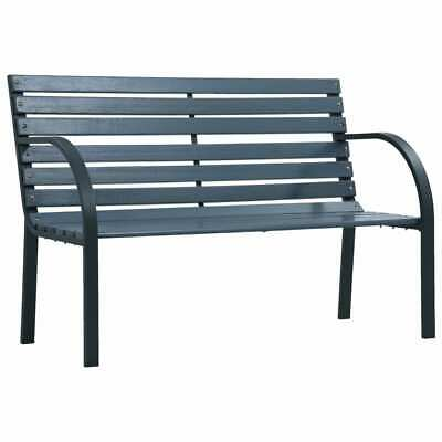 vidaXL Garden Bench 120cm Grey Wood Outdoor Patio Seating
