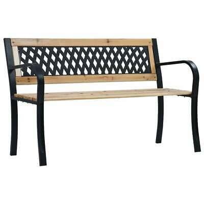 vidaXL Garden Bench 120cm Wood Outdoor Patio Seating Seat