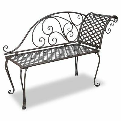 vidaXL Garden Chaise Lounge 128cm Steel Antique Brown