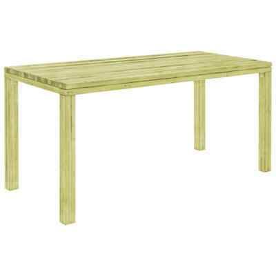 vidaXL Garden Dining Table 170cm FSC Impregnated Pinewood
