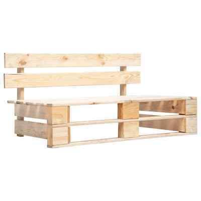 vidaXL Garden Pallet Bench FSC Solid Wood Outdoor Patio