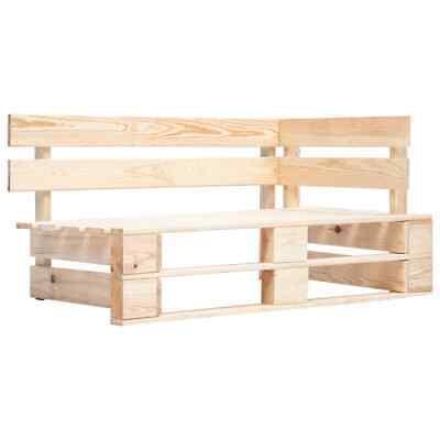 vidaXL Garden Pallet Corner Bench FSC Solid Wood Outdoor