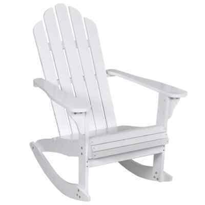 vidaXL Garden Rocking Chair Wood White Outdoor Patio Sun