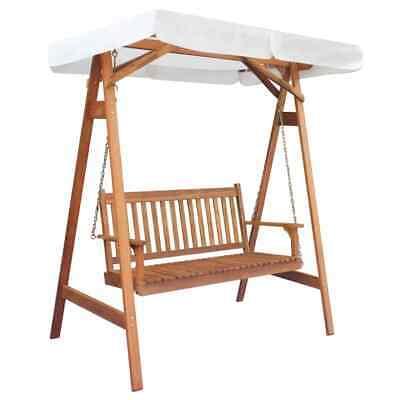 vidaXL Garden Swing Chair with Canopy Eucalyptus Acacia Wood