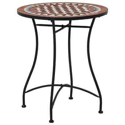 vidaXL Mosaic Bistro Table Brown 60 cm Ceramic Outdoor