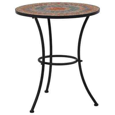 vidaXL Mosaic Bistro Table Orange 60 cm Ceramic Outdoor