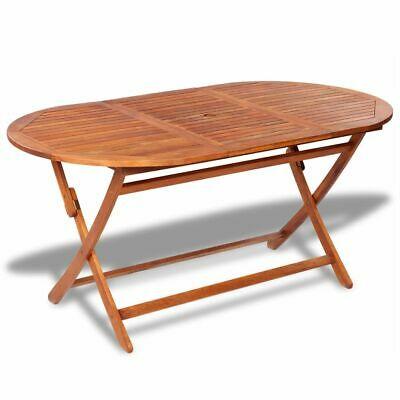 vidaXL Outdoor Dining Table Acacia Wood Foldable Garden
