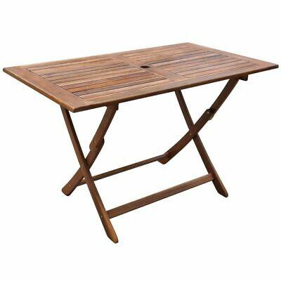 vidaXL Outdoor Dining Table Acacia Wood Garden Patio Folding