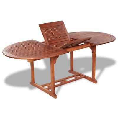 vidaXL Outdoor Extendable Dining Table Acacia Wood Kitchen