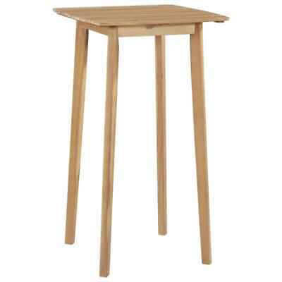 vidaXL Solid Acacia Wood Bar Table 60x60x105cm Kitchen