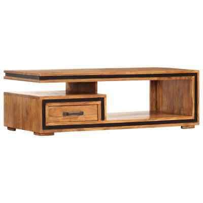 vidaXL Solid Acacia Wood Coffee Table 100x45x33cm Living