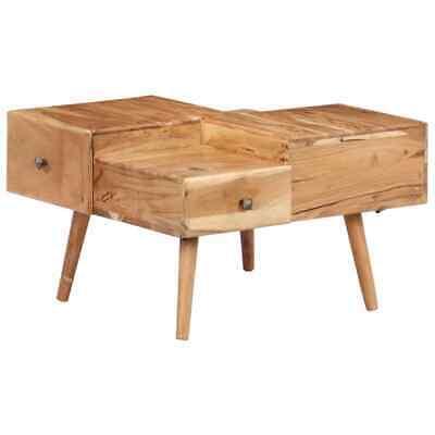 vidaXL Solid Acacia Wood Coffee Table Living Room Side