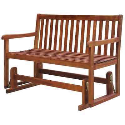 vidaXL Solid Acacia Wood Garden Swing Bench 125x62x93cm