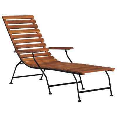 vidaXL Solid Acacia Wood Outdoor Deck Chair Garden Sun