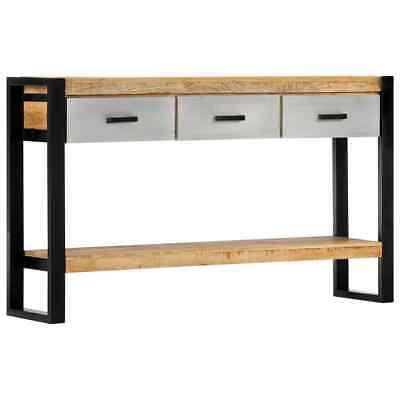 vidaXL Solid Mango Wood Console Table 3 Drawers 1 Shelf Hall