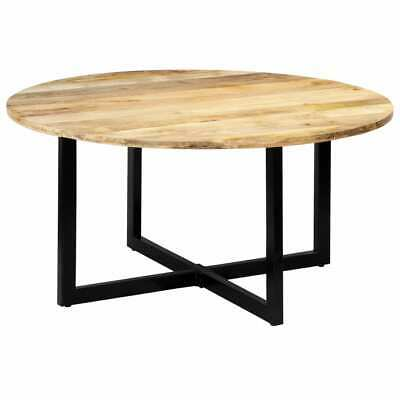 vidaXL Solid Mango Wood Dining Table 150cm Round Home
