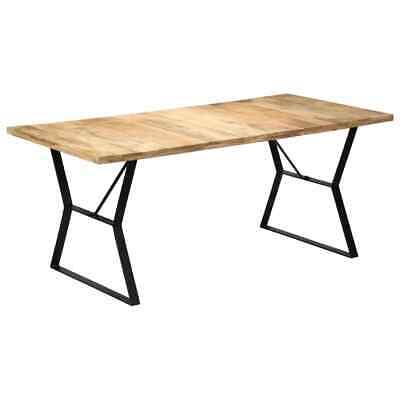 vidaXL Solid Mango Wood Dining Table 180x90x76cm Kitchen