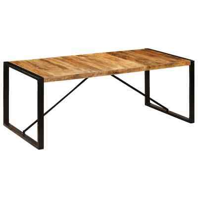 vidaXL Solid Mango Wood Dining Table Vintage Kitchen Dinner