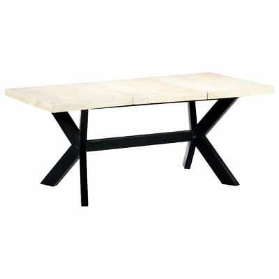 vidaXL Solid Mango Wood Dining Table White 180cm Kitchen