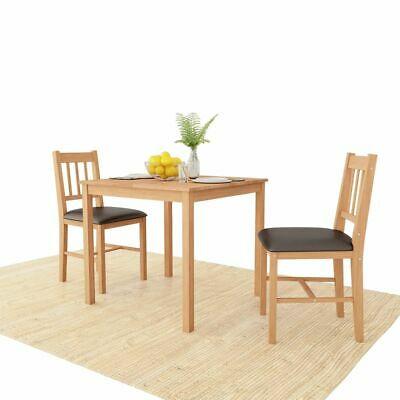 vidaXL Solid Oak Dining Room Set 3 Pieces Kitchen Furniture