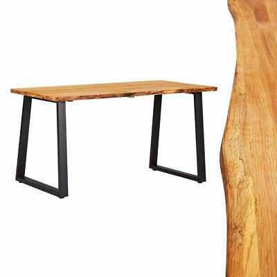vidaXL Solid Oak Wood Dining Table Natural 140cm Kitchen