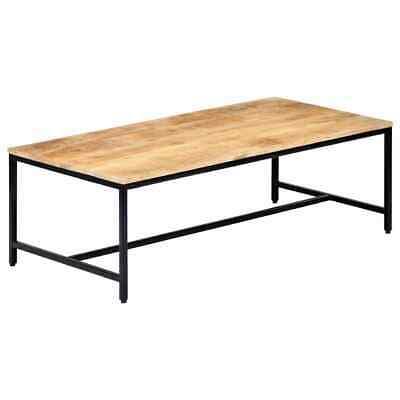 vidaXL Solid Rough Mango Wood Coffee Table 120cm Living Room