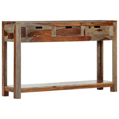 vidaXL Solid Sheesham Wood Console Table with 3 Drawers