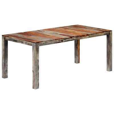 vidaXL Solid Sheesham Wood Dining Table Handmade Grey 180cm