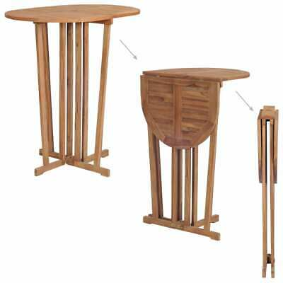 vidaXL Solid Teak Wood Folding Bar Table 100x65x105cm