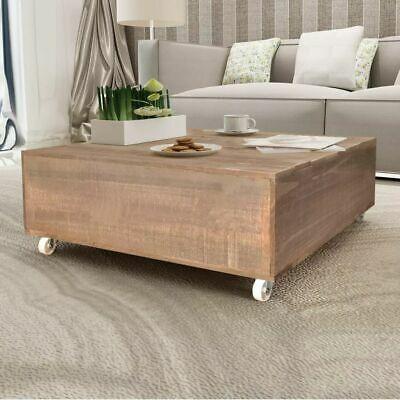 vidaXL Solid Wood Coffee Table Brown Living Room Furniture