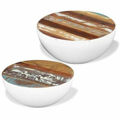 vidaXL Two Piece Bowl Shaped Coffee Table Set Bowl Shape