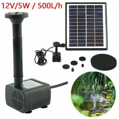 5W 500L/H Solar Powered Water Pump Garden Pool Pond Fish