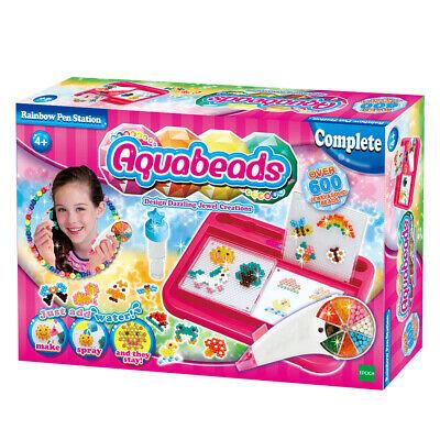 Aqua Beads Rainbow Pen Station 600 Beads Just Add