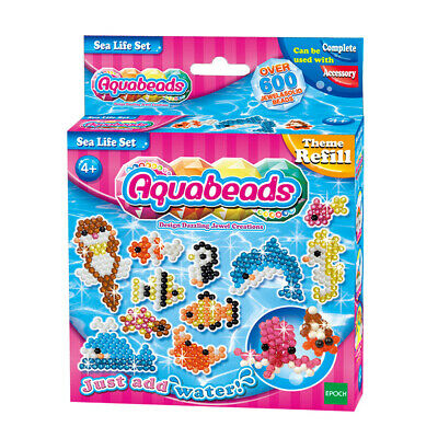 Aquabeads Sea Life Refill Set 600 Beads for Girls Age