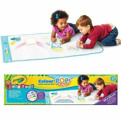 Crayola Mini Kids Colour Pop Colour & Erase Mat - Erasable