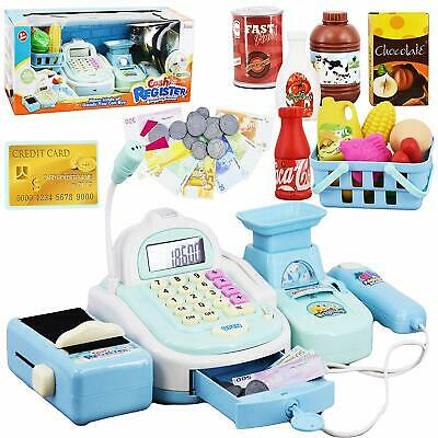 Kids Electronic Cash Register Toy Till Working Scan,
