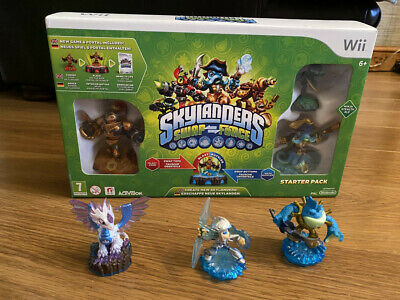 Wii Skylanders Swap Force Starter Pack (in box) with 3 Extra