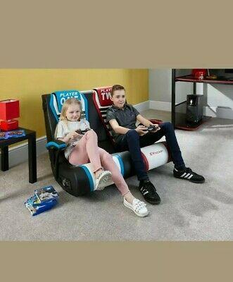 X Rocker Dual Rivals Floor Rocker - 2 Seater Gaming Chair.