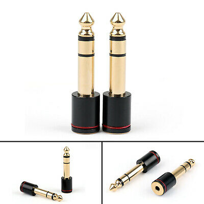20PC Copper 6.35mm Male Plug To 3.5mm Stereo Female