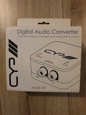 CYP AU-D DAC Digital Audio To Stereo Audio Converter