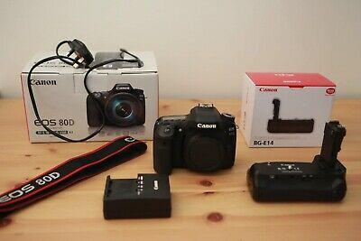 Canon EOS 80D 24.2MP Digital SLR Camera w/ Canon BG-E14