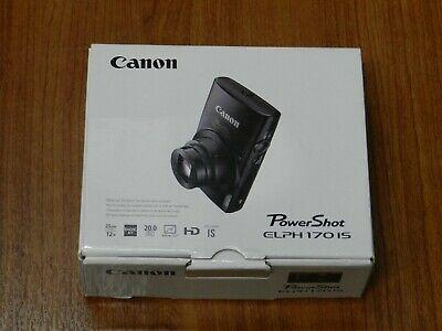 NEW Open Box - Canon PowerShot ELPH 170 IS 12.1 MP Camera -