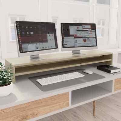vidaXL Monitor Stand Sonoma Oak Chipboard Screen Display