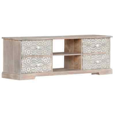 vidaXL Solid Acacia Wood TV Cabinet Home HiFi Stand Unit