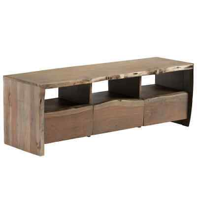 vidaXL Solid Acacia Wood TV Cabinet Live Edges 120x35x40cm