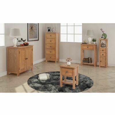 vidaXL Solid Oak Five Piece Living Room Furniture Set